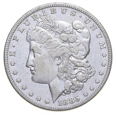 W@W Early 1885 Morgan Silver Dollar - 90% US Coin - Nice Coin *823