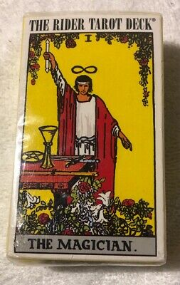 New Rider Waite Tarot Deck The MAGICIAN Factory Sealed Copyright 1971