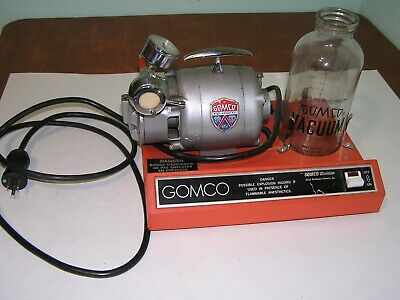 GOMCO 789 Portable Aspirator Suction Pump with collection bottle no. 500 USED