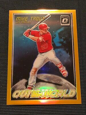 2018 Donruss Out Of This World Mike Trout Angels Gold #5/ 10