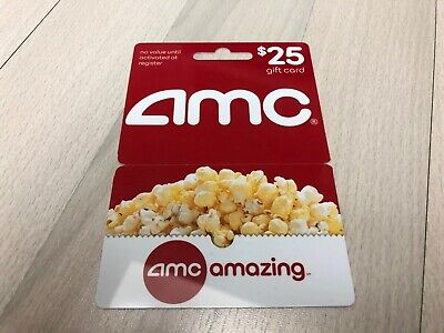 $25 AMC Movie Theaters Gift Card
