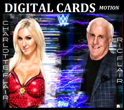 Topps Wwe Slam Card Trader Fractured Friendship Drop 1 Charlotte & Ric Motion