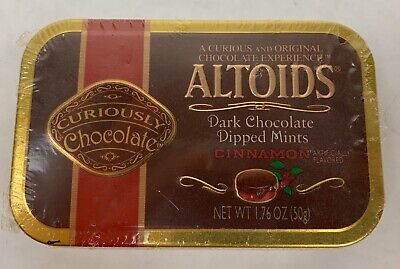One Sealed collectors Tin RARE! ALTOIDS Peppermint Dark Chocolate Dipped Mints