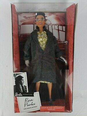 Rosa Parks Barbie Doll Signature Inspiring Women Series Box Damage New