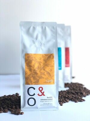 Roasted Coffee Beans, Brazilian-Colombian-Indian Arabica Specialty Blend