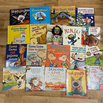 Lot of 19 Story Time kids books toddlers Curious George ,Llama Llama,If You Give