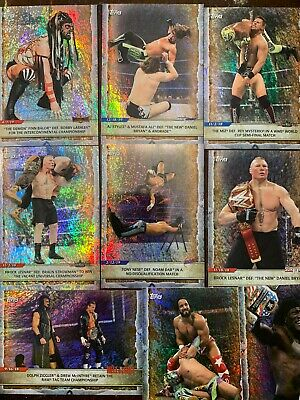 2020 Topps WWE Road To Wrestlemania Foilboard Card Lot - 10 Cards