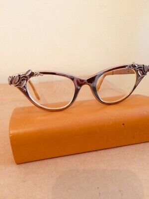Vintage Tura 1950s Cateye  Glasses/Spectacles Authentic