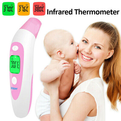 Non Contact Digital IR Infrared Forehead Thermometer Temperature Gun Adult Body