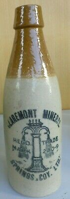 tan top corker ginger beer CLAREMONT MINERAL SPRINGS large fountain trademark