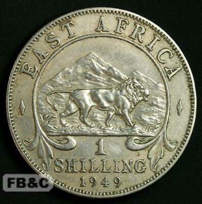 1949 East Africa One Shilling Coin - KM#31 George VI Better Grade