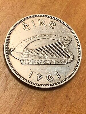 Ireland Excellent 1941 Shilling 75% Silver