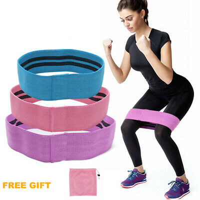 Fabric Resistance Bands Butt Exercise Bands Loop Circles Set Legs Glutes Women