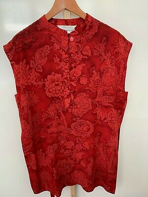 MAX MARA Red Floral Silk Wrap around Skirt and matching Top