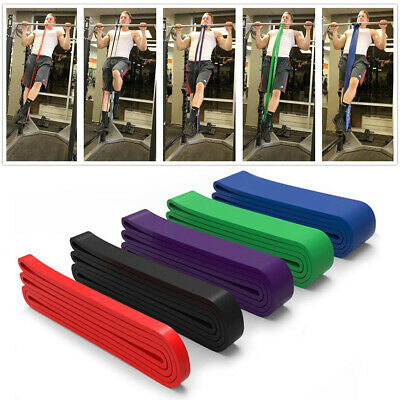 SET OF 5 Strength Power Resistance Rubber Band Chin Up Pull Up Training Exercise