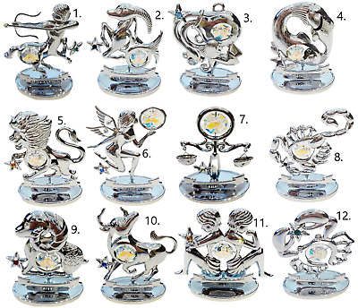 Crystocraft Crystal Zodiac Sign Gift Figurine Ornament Swarovski Elements Boxed