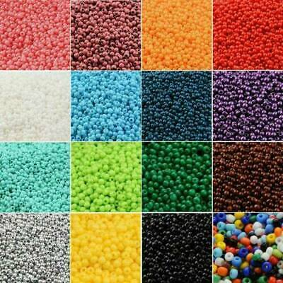 2500pcs 1.8mm Glass Beads Pearl Round 6 colours hole Jewellery Making Crafts UK