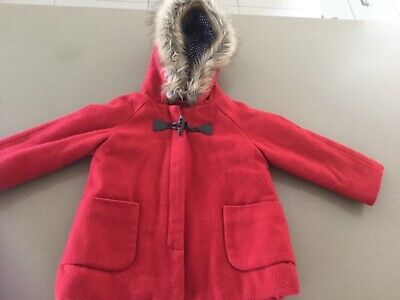 Sprout Girls Red Coat Size 1