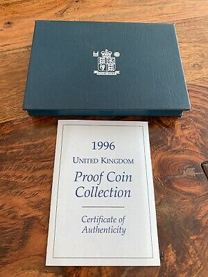 1996 United Kingdom Proof 9 Coin Collection Set £2 Football and £5 Crown