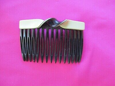 Mary Quant Made in France Black & Ivory Hair Slide Clip Swinging 60's  FREEPOST