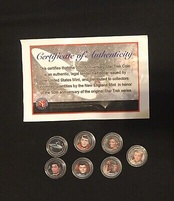Star trek Coin Collection New England Mint New and Rare Collectible Set Of 7