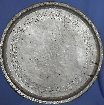 Antique Hand Made Large Tinned Copper Platter Tray