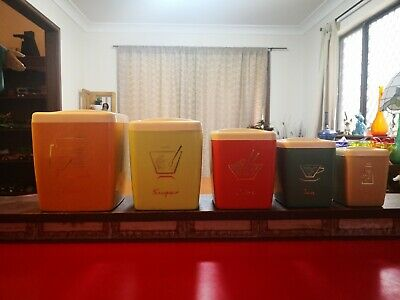 Nally Harlequin Canister Set of 5.  Excellent.