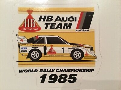 Sticker / Aufkleber, Audi S1 HB Team, World Rally Championship 1985
