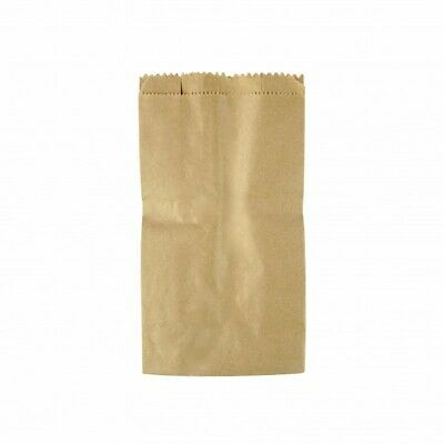 NEW Brown Paper Satchel Bags - 125mm - 75mm gusset - PACKET(500) - Kent Paper