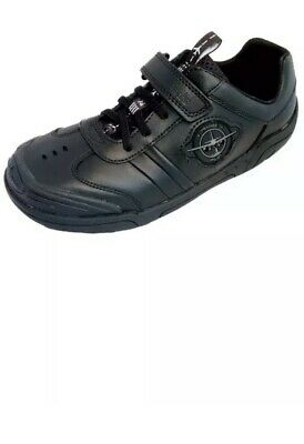 Clarks Boys Shoes Nano Diffuse Black Leather Flashing Lights School
