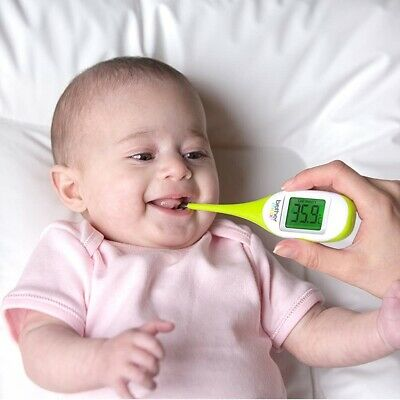 Flexi Digital Thermometer Flexible Tip & Case LCD Screen Baby & Adult Fever Scan