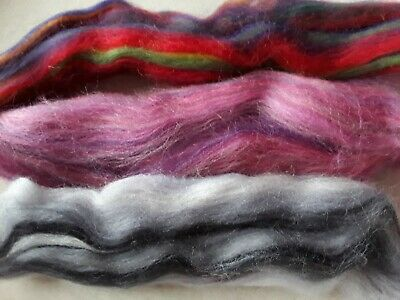 15g Merino Wool Blend Pack in Mixed Colours, Needle Felting, Spinning, Nr.1