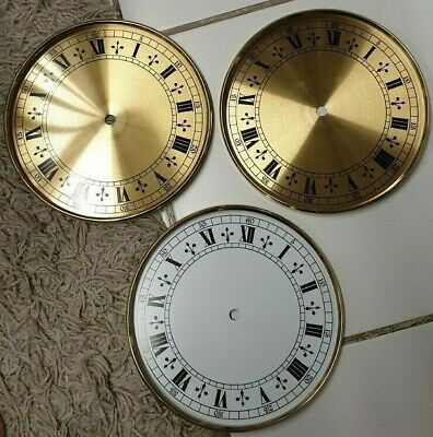 3 Stylish Round Clock Dials/Faces-No Reserve!