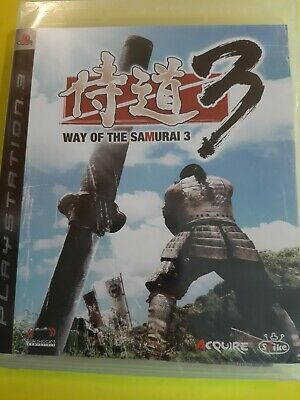 Way of the Samurai 3 (Sony PlayStation 3, 2009). Region 3 Japanese game