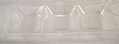 "Restaurant Equipment 3 Polyethylene 3 Compartment Serving Dishes 16"" Long"