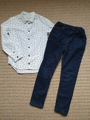 Boys Size / Age 9-10 Years River Island Shirt & Blue Jeans Outfit Bundle A