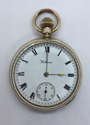 Antique Early 20th Century Waltham USA Gold Plated Pocket Watch 17 Jewels 1913