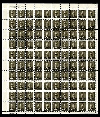 CANADA SHEET - Scott 290 - NH - UL Plate 2 - 2¢ Sepia Postage Omitted (.027)