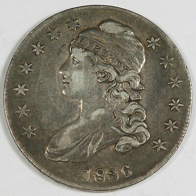 1836 Capped Bust Half Dollar 50 Cent Silver Coin XF Nice Original Toning O-114