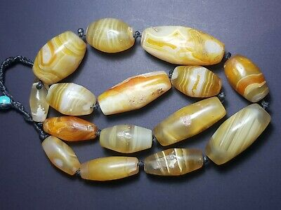 Roman agate beads very lovely old agate beads neaklace string