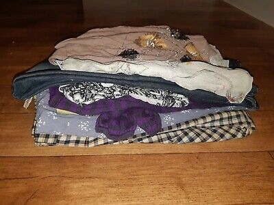 Bundle Job Lot Ladies Clothes for Crafting, Repairs. Silk, Wool, Cotton