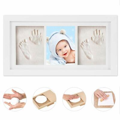 Baby Hand and Foot Print Keepsake Kit With Photo Frame White