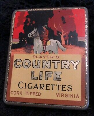Vintage Players Country Life Cigarette Tin Tobacco