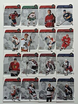 Lot of 16 2002-03 UD Series1 YOUNG GUNS-AVERY+WEISS+ARNASON-NO DUP#196-211