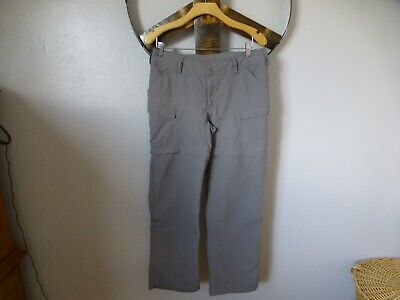 The North Face Womens Size 8 Pants Gray Convertible Hiking Outdoor Camping Nylon