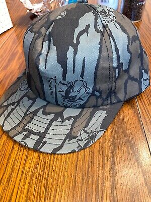 VINTAGE JOE CAMEL CIGARETTES TreBark Camouflage Camo Smoking SNAP-BACK HAT Ad