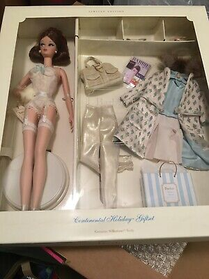 Continental Holiday Silkstone Barbie Doll Giftset 2001 Mattel #55497 New In Box