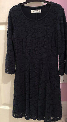 Girls Abercrombie Kids Blue Thick Long Sleeve Party Dress Size 7/8