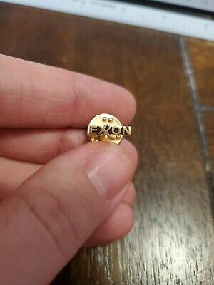 Exxon Oil & Gas Lapel Pin - Tie Tack 10k Gold