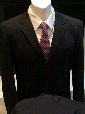 New Black Armani Suit!! 💯 Wool  Size 44R 36x31 Made In Italy. Nice!!!!!!!